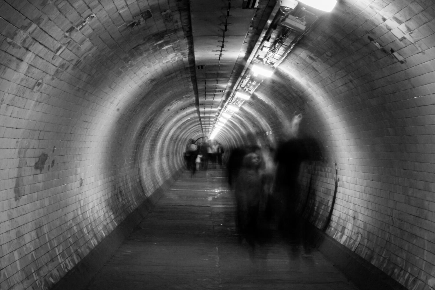 Ghosts in a tunnel